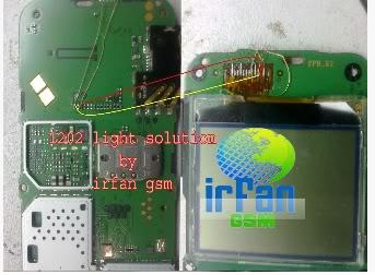 1202 - Nokia 1202 No Light New Solution