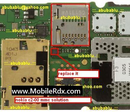 Nokia c2 00 mmc solution