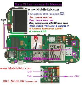 Nokia c1 Hot light solution 288x300