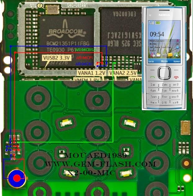 Nokia X2-00 Mic Ways Jumper Solution