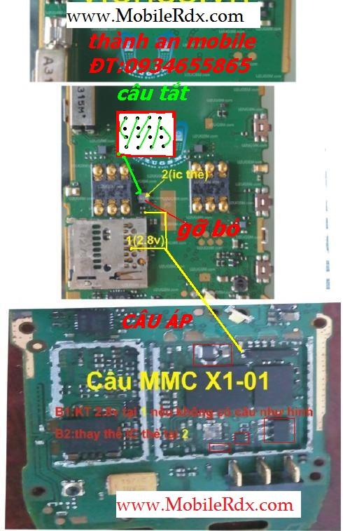 Nokia X1 MMC Ic Jumper