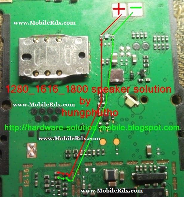 Nokia 1280 1616 1800 Speaker Solution Mobilerdx