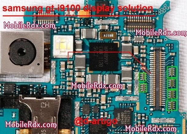samsung gt i9100 display solution