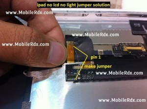 ipad 2 lcd light not working solution