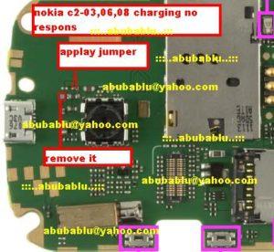 nokia C2 03 C2 06 C2 08 charging no respons 300x276