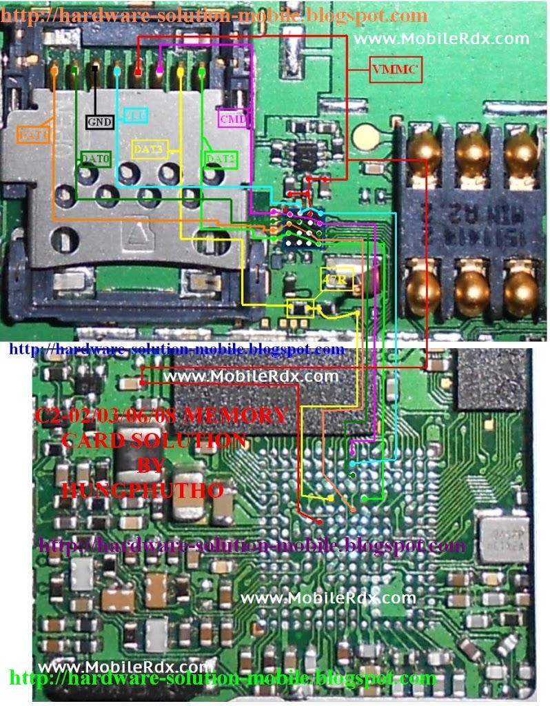 Nokia C2-03,C2-06,C2-08 Mmc Problem Repair Solution