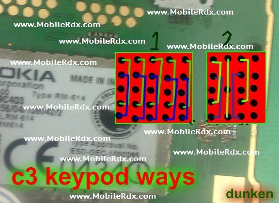 Nokia C3 Keypad Ic Jumper Solution