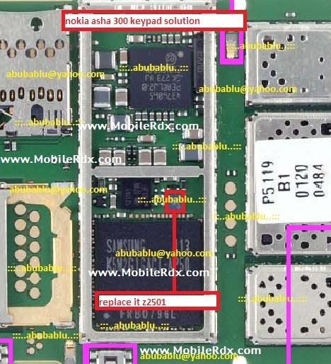 nokia asha 300 keypad solution