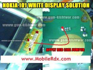 nokia 101 white display problem solution 300x225