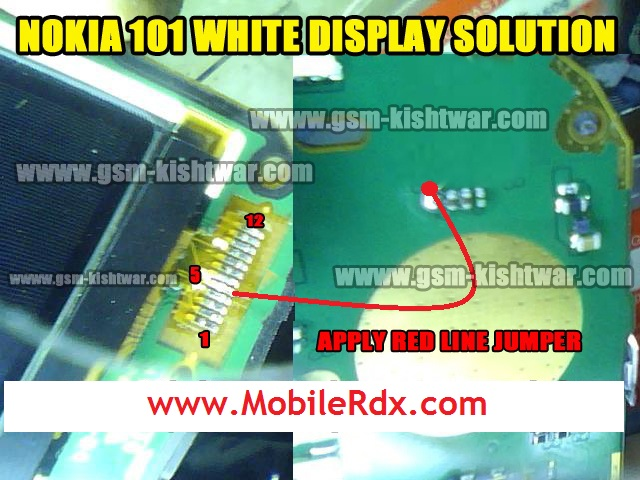 Nokia 101 White Display 100  Tested Solution