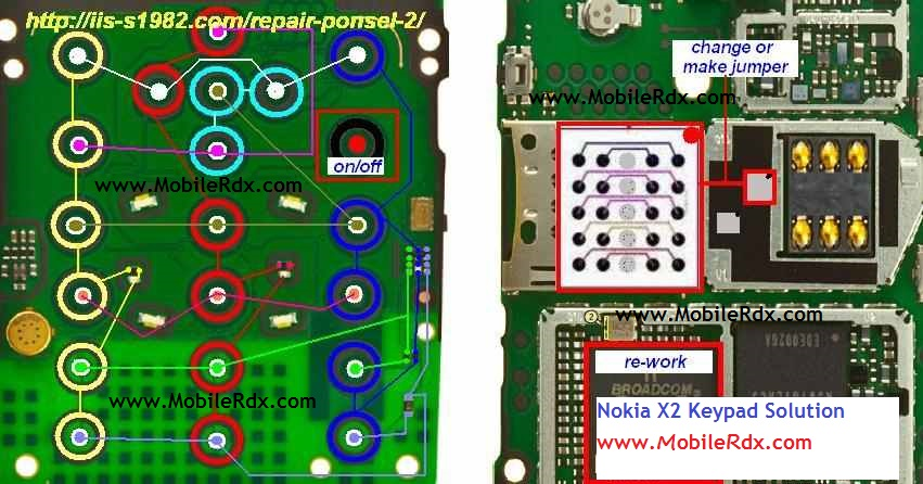 Nokia    X2    Keypad    Ways Jumper Solution