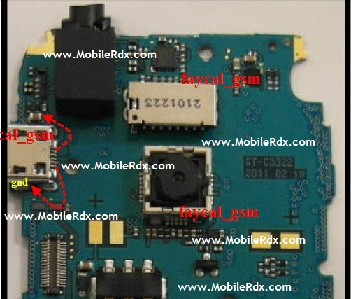 samsung c3322 charging ways jumper solution
