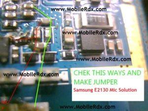 samsung e2130 mic solution jumper 300x225 - Samsung E2130 Mic Problem Jumper Solution