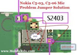 nokia c5 03 c5 06 mic problem jumper solution 300x213