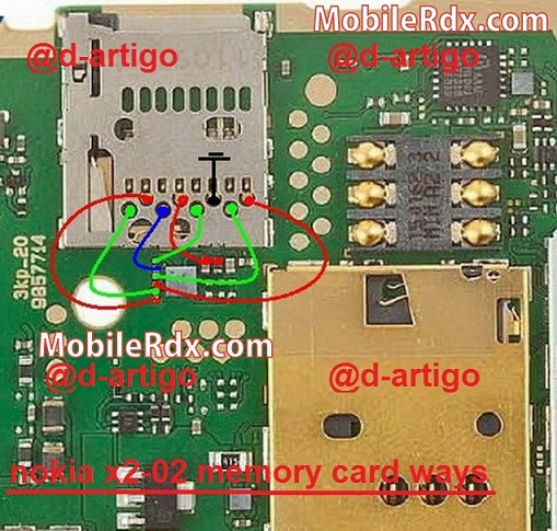nokia x2-02 mmc card ways memory card solution