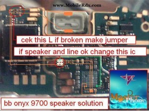 Blackberry 9700 Speaker Ways Track Jumper Solution
