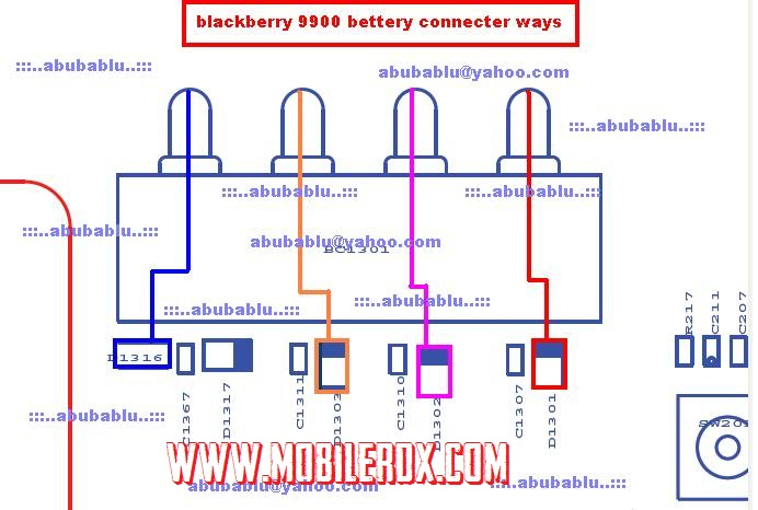 blackberry 9900 battery connecter track ways jumper solution