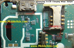 Samsung E1120 Charging Ways Jumper Solution