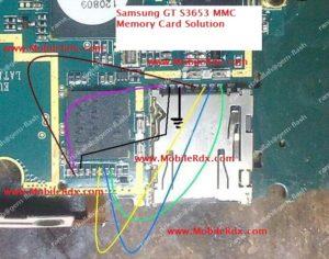 Samsung GT S3653 MMC Memory Card Problem Track Ways Jumper