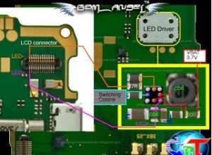 nokia 2710 lcd display light jumper solution 300x220 - Nokia 2710 Display Lcd Light Probelm Solution Jumper