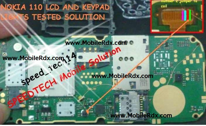Nokia 110 And 111 Lcd Light Jumper Solution Mobilerdx