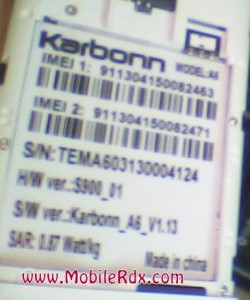 Karbonn A6 image1 250x300 - Karbonn A6 Pattern Lock Done By Volcano Box - World First