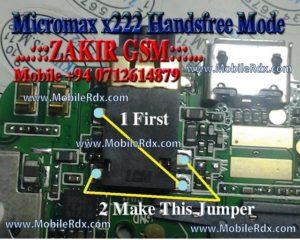 Micromax x222 Handsfree Jumper Ways Track