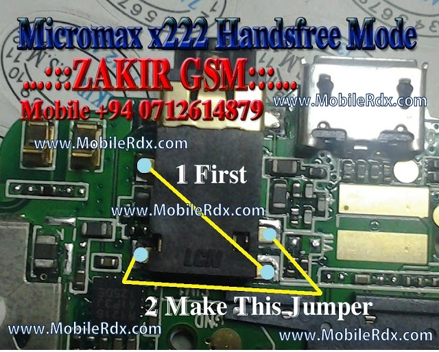 Micromax X222 Handsfree Activated Headphone Mode Solution