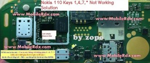 nokia 110 keypad 1 4 7 not working 300x127 - Nokia 110 Keys 1,4,7,* Not Working Solution