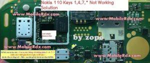 Nokia 110 Keys 1,4,7,* Not Working Solution