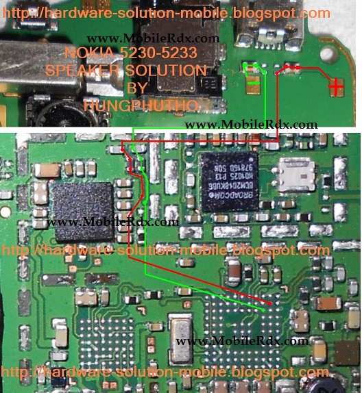 Nokia 5233 Ringer Speaker Problem Jumper Solution