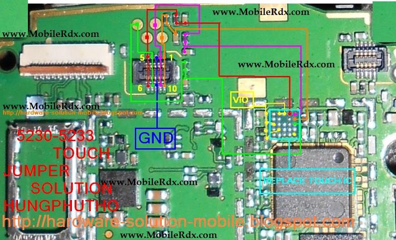 Nokia 5233 Touch Screen Problem Repair Jumper Solution