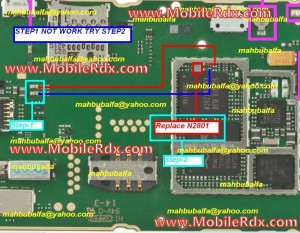 nokia x2 01 ringer speaker buzzer ways jumper 300x233 - Nokia X2-01 Ringer Buzzer Solution Jumpers
