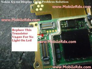 nokia x3 02 light solution 300x225 - Nokia X3-02 Display Light Problem Solution