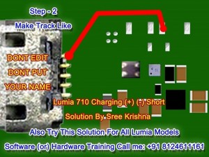 lumia 710 charging short solution step 2 300x225 - Nokia Lumia 710 Charging (+) (-) Short Solution