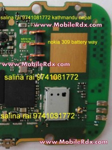 nokia 309 battery connnecter ways 224x300