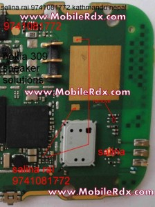 nokia 310 speaker buzzer ways 224x300 - Asha 310 Ringer Problem Ways Jumper Solution