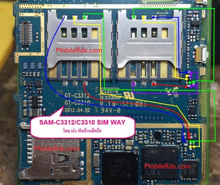 Samsung GT-C3310, C3312 Sim Card Ways Solution Problem Jumper