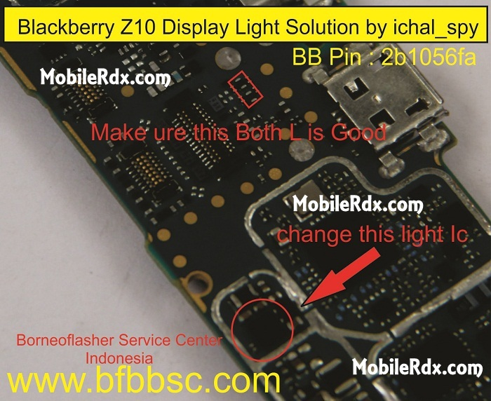 blackberry z10 display light solution