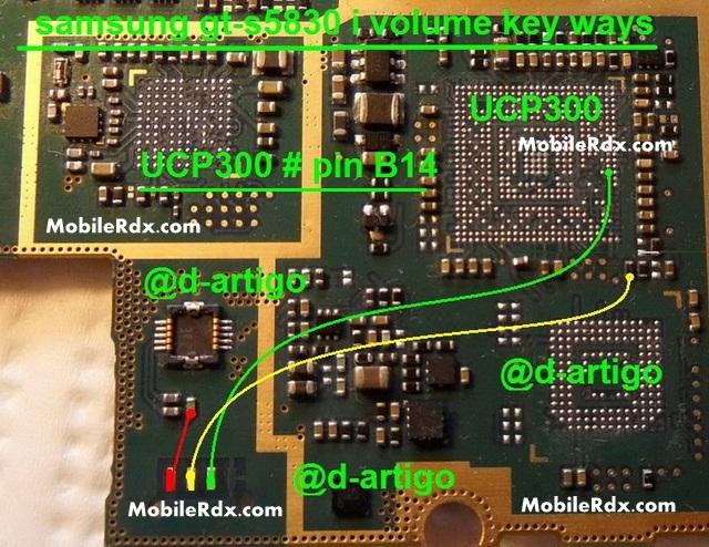 Samsung GT-S5830i Volume Button Ways Key Jumper
