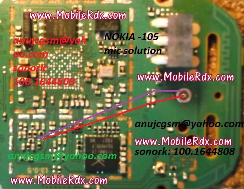 Nokia 105 Mic Problem Jumper Solution