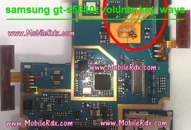 samsunggt s5830ivolumekeyways - Samsung S5830i Volume Keys Jumper Ways
