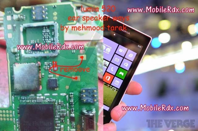 lumia 520 ear speaker jumper1 - Nokia 520 Earpiece Problem Ways Solution