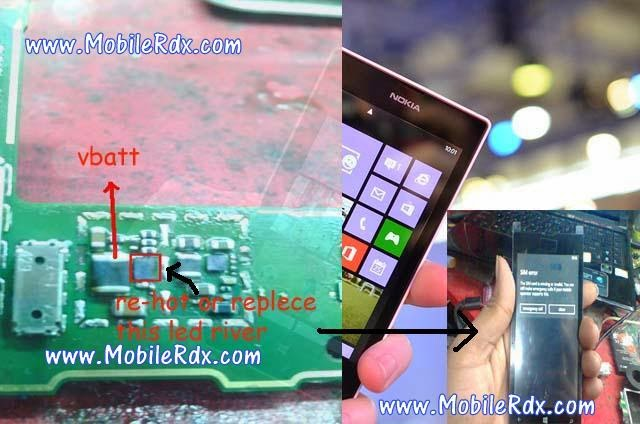 lumia 520 lcd light solution1 - Nokia Lumia 520 Light Not Working Problem Solution