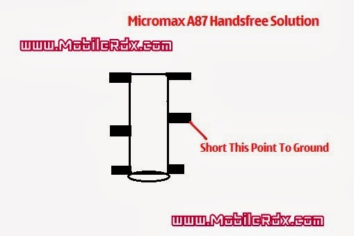 micromax a87 handsfree solution - Micromax A87 Handsfree Mode Problem Repair Solution