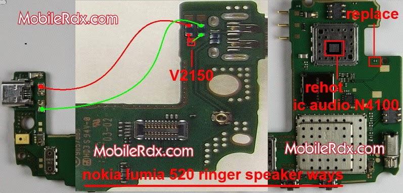 nokia 2Blumia 2B520 2Bringer 2Bspeaker 2Bways - Nokia Lumia 520 Ringer Speaker Jumper Ways