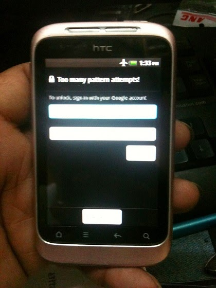 11 - How To Hard Reset Htc Wildfire S A510e Remove Pattern Lock