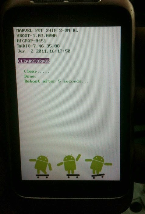 4 - How To Hard Reset Htc Wildfire S A510e Remove Pattern Lock