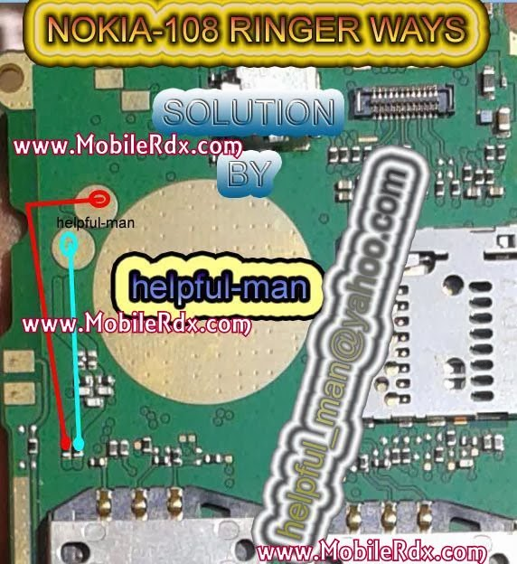 Nokia 108 ringer ways jumper solution - Nokia 108 Ringer Problem Jumper Solution