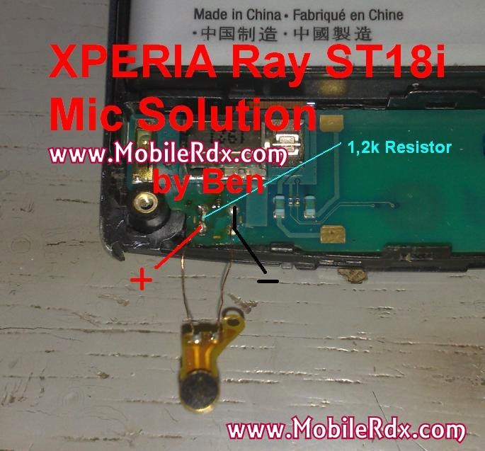 Sony Ericsson Xperia ray mic solution ways